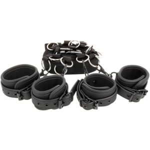 FETISH SUBMISSIV LUXURY BED TIES SET