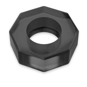 POWERING: Octagon Superflexibel Penisring No10, Svart