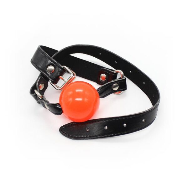 Fetish Addict: Justerbar Ball Gag, Svart/Röd