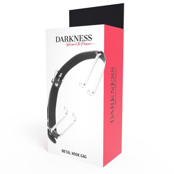 DARKNESS Metal Jaw Hook Gag, svart