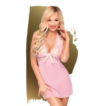 PENTHOUSE CHEMISE SWEET & SPICY ROSE